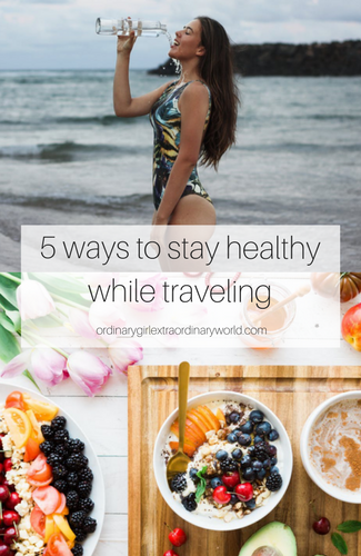 staying healthy when you're on the road doesn't have to be hard. easily implement these 5 changes to keep yourself healthy while you're traveling!