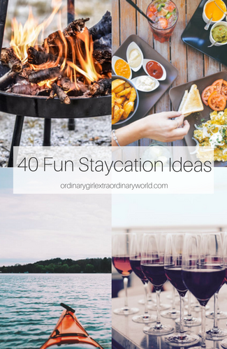 Whether you're looking for ideas for for couples, for adults, for kids, or at home, in summer, spring, fall or winter, these 40 fun staycation ideas will make you feel like you took a vacation but for much less money!