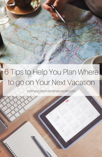 Trying to plan your next vacation but not sure where to go? These 6 tips to planning a vacation will be helpful whether you're on a budget, traveling with kids, heading to the beach, or looking for a couples getaway!