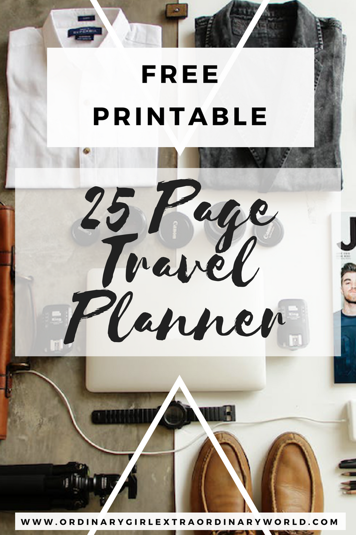 FREE 25-Page Travel Planner From planning your trip, figuring out what to eat, drink, and do, to packing and finalizing day-to-day details, this in-depth travel planner will keep all your travel details in one convenient place!