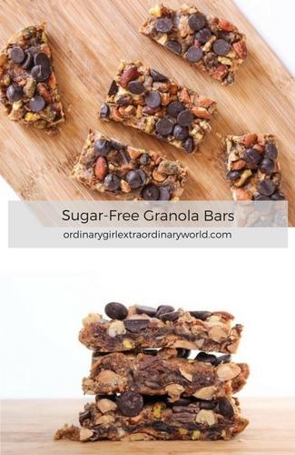 Healthy Snack Idea: Sugar-Free Granola Bars