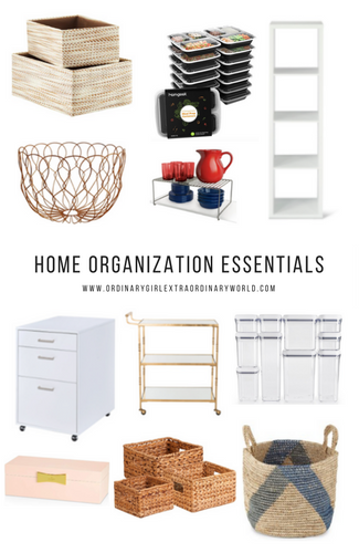Home Organization Essentials: 12 pieces that can be used to help organize any home.