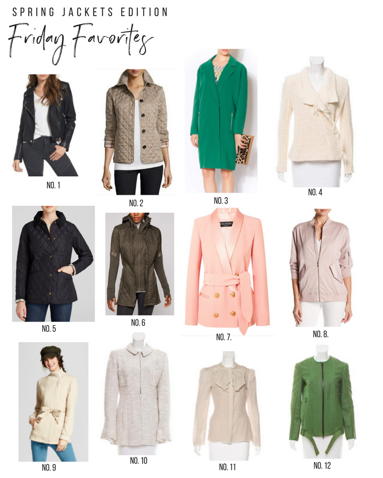 Friday Favorites | Spring Jackets | Favorites in fashion and style