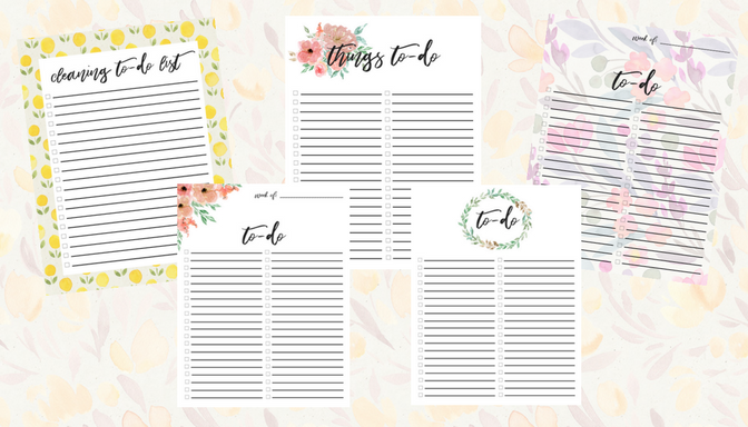 Free printable: To do list checklist