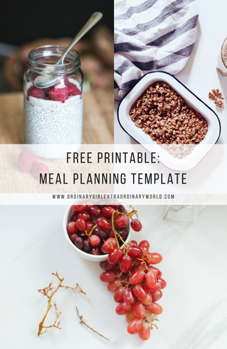 Meal Planning, meal prepping and water intake weekly planning list and template