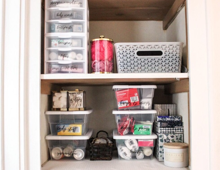 Medicine Cabinet Organization: Before and After