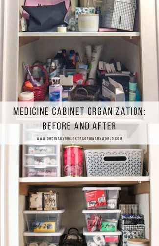 Medicine Cabinet Home Organization: Before and After
