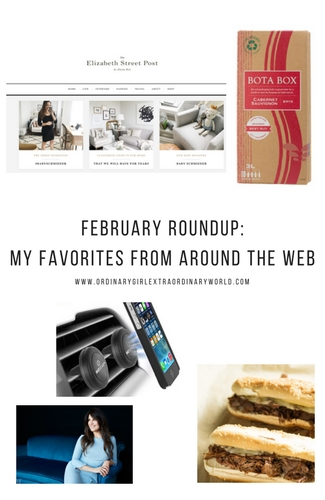 February Roundup: My favorite recipes, products, articles and bloggers from around the web