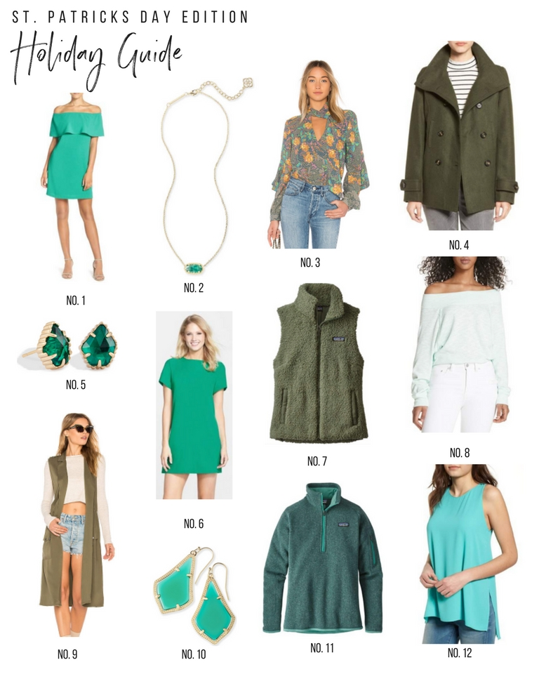 Holiday Guide: My Favorite Green Clothes and Accessories for St. Patrick's Day