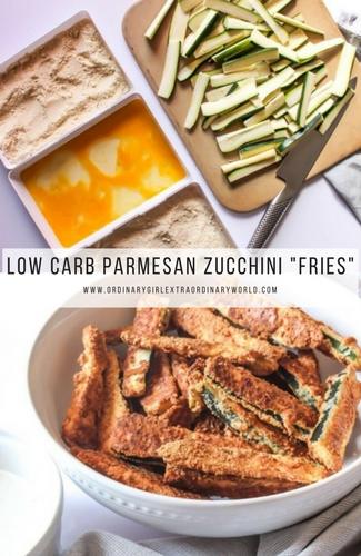 "Low Carb Parmesan Zucchini ""Fries"""