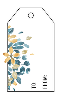 Free Printable: Watercolor Flower Gift Tags