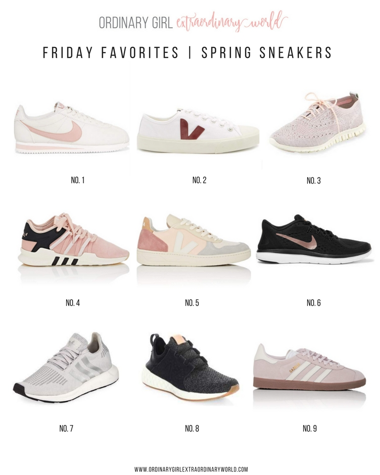 Friday Favorites in Fashion and Style: Spring Sneakers