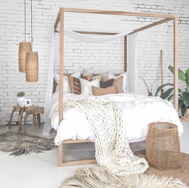Neutral bedroom furniture inspiration for a bedroom makeover.