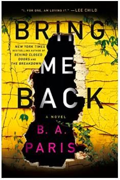 Summer Reading List: Bring Me Back, by B.A. Paris
