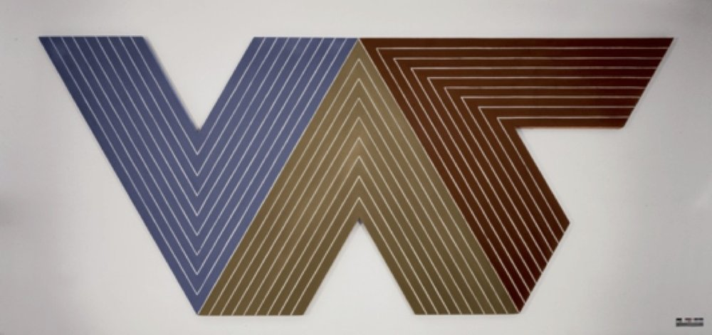 Frank Stella. Quathlamba.   1964. Metallic powder in polymer emulsion.