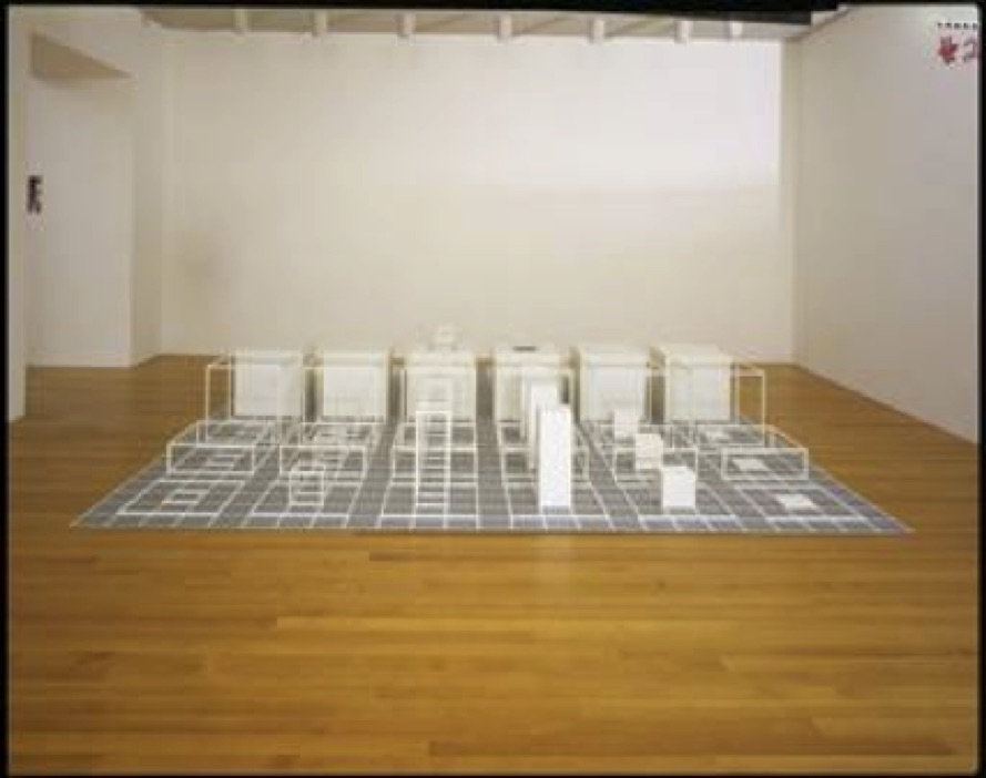 Sol LeWitt, Serial Project, I (ABCD). 1966. Baked enamel on steel units over baked enamel on aluminum.