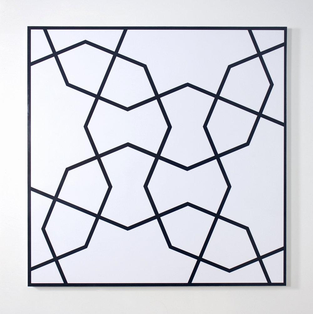 Topkapi VI   1992. Acrylic on canvas. 48 x 48 in., 121.9 x 121.9 cm.