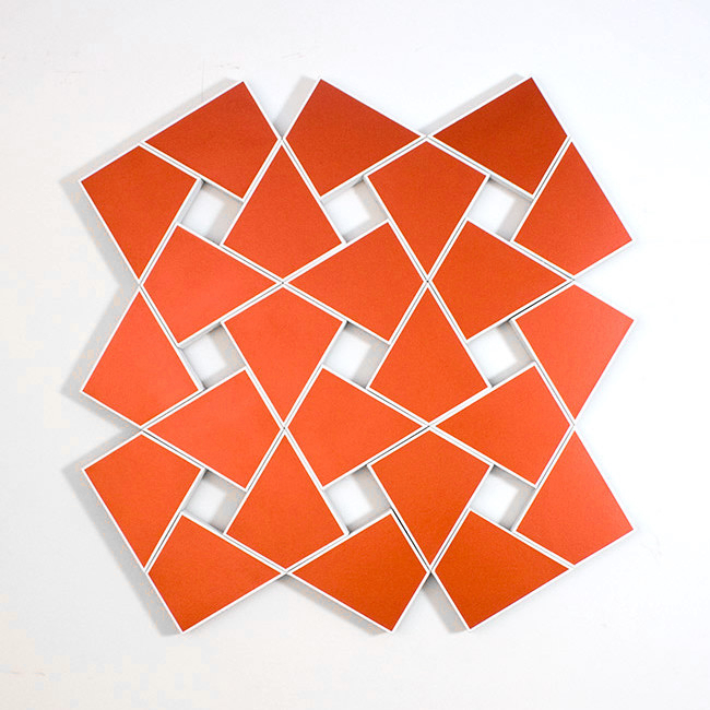 Cyrene IV: Copper 2010. Acrylic on 24 canvases. 53 x 52 in., 134.6 x 134.6 cm.