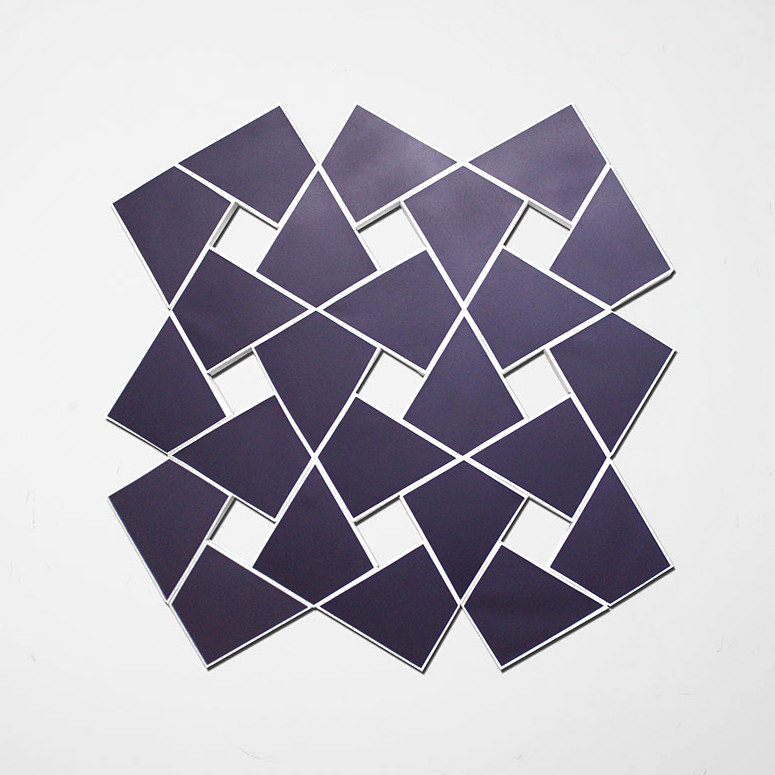 Cyrene VI: Lilac 2010. Acrylic on 24 canvases. 53 x 52 in., 134.6 x 134.6 cm.