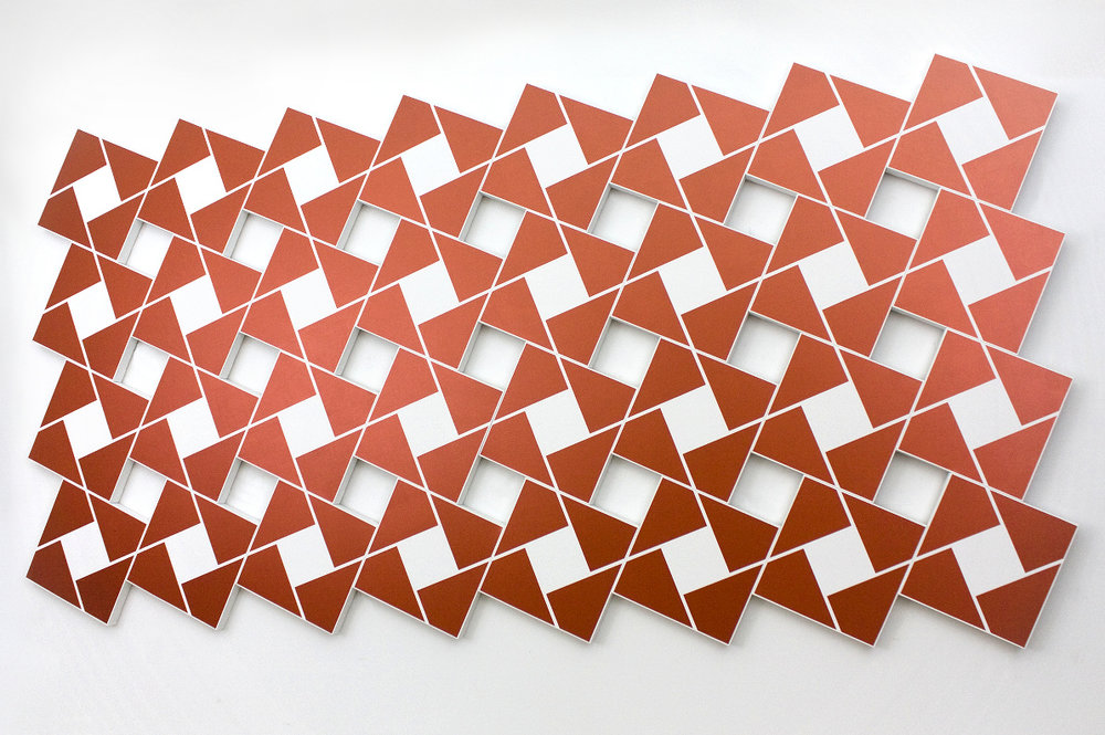 Ajlun III: Copper   2002. Acrylic on 32 canvases. 80 x 168 in., 203.2 x 426.7 cm.