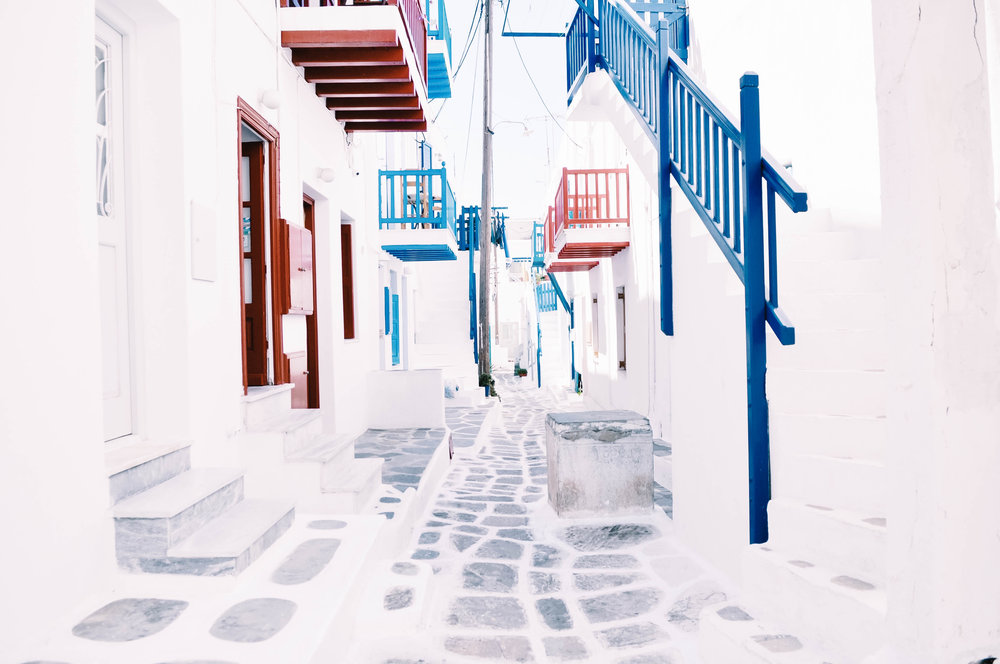 Mykonos Town is unlike anything I've ever seen. White narrow streets, so pristine and full of character