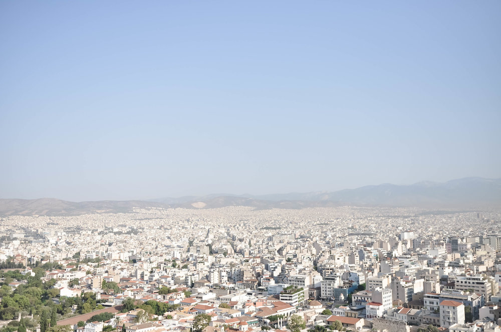 View from the Acropolis in Athens