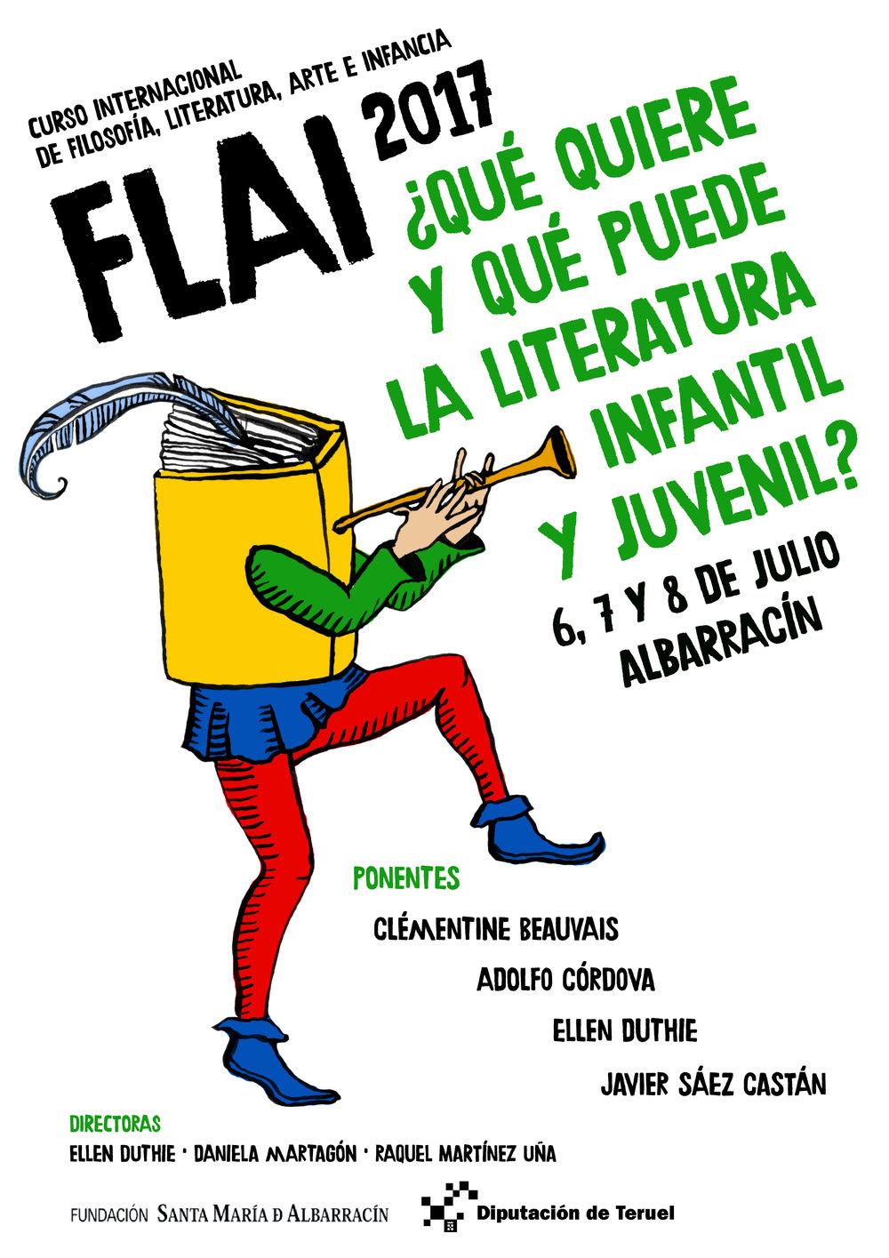 Cartel de Daniela Martagón para FLAI!