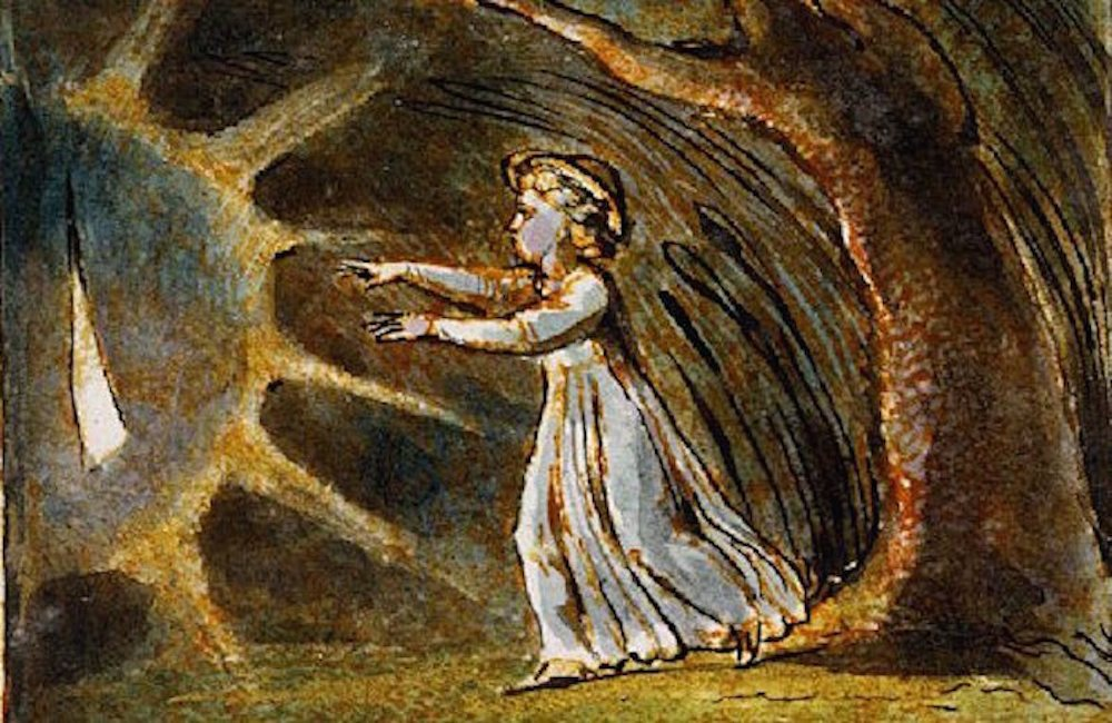 Imagen de William Blake. del poema Little Boy Lost, de  Canciones de Inocencia y de Experiencia .