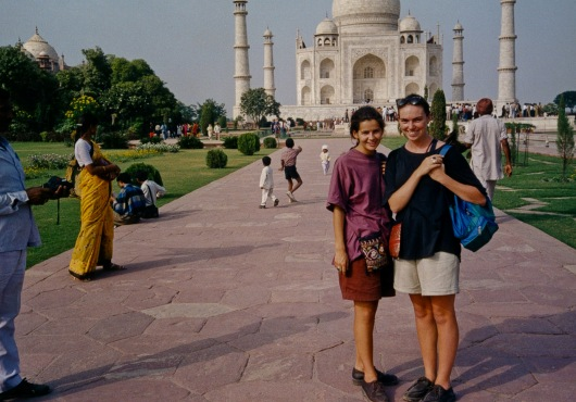 Bit by bit the ethnic garb grew - Lisa and me, Agra 1989