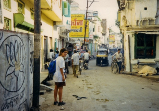 Me arriving in Udaipur, 1989