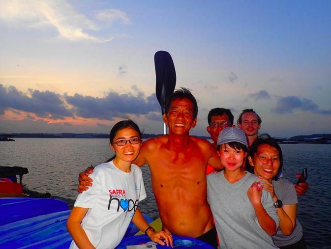 Sea Angel founder Phillip Lin with Sea Angel volunteers