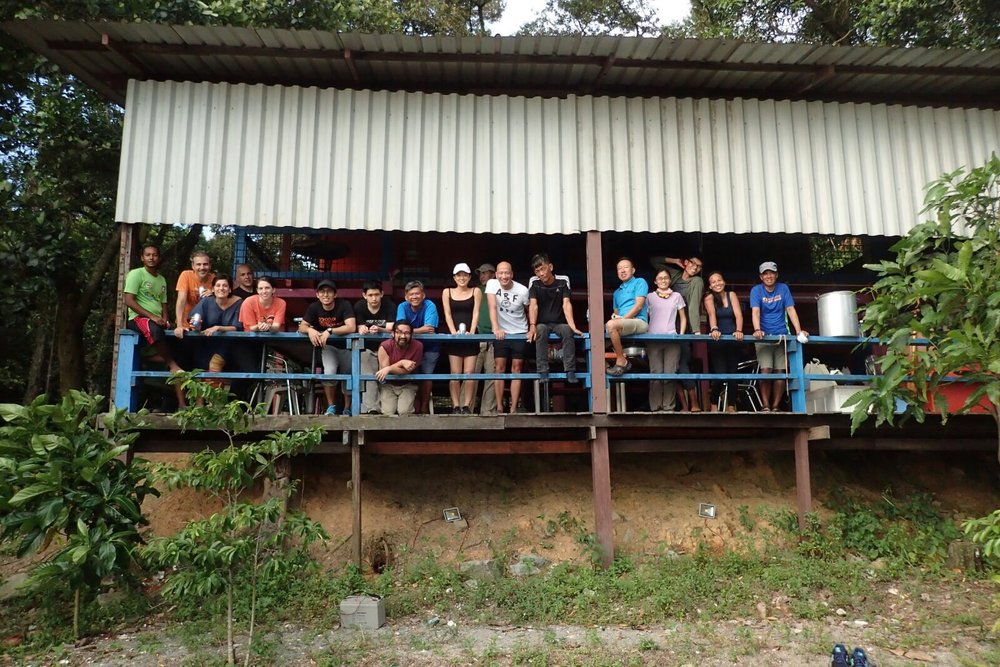 Sea Angels with friends gather at uncle Ah Kok's house for ann photo op after the wrap of Pesta Ubin 2017