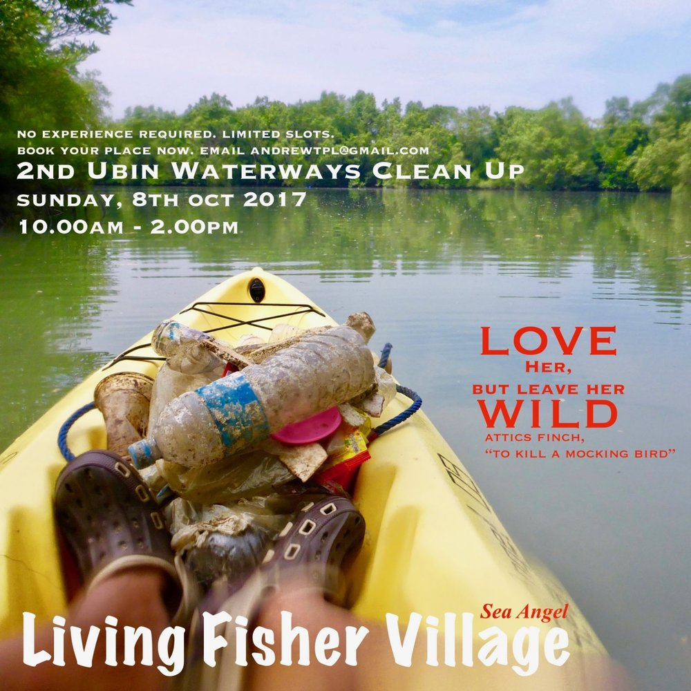 Event: 2nd Ubin Waterways Clean Up Date: Sun, 08 Oct 2017 Time: 10am - 2pm Don't miss this opportunity. Come join us this Sun. Do your part for the environment. Take part in this meaningful event & you will be rewarded. Please click the link below for registration & payment. Limited slots available. https://goo.gl/forms/LitHfb8Za5W2SI7A2