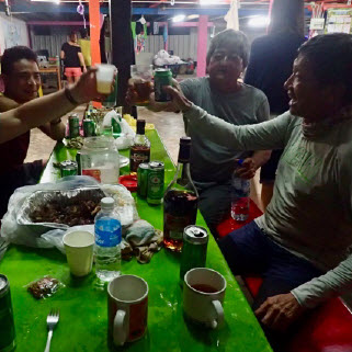 Bonding with Ubin residents through meals, drinks and visits