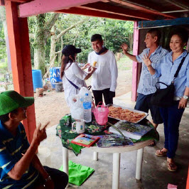 Visiting and interacting with Ubin residents