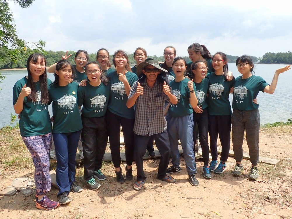 Thumbs up by Uncle Ah Kok on a successful youth leadership camp
