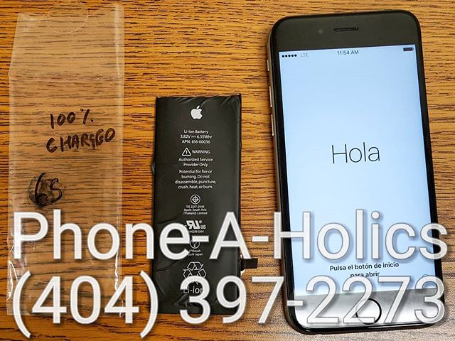 iPhone Battery Replacement #phonerepair #phonerepairs #batteryreplacement #iphone #iphone6s #norcross #jimmycarter #atlanta #georgia #apple #samsung #phoneaholics #samedayservice