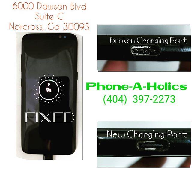 Samsung s8 charging port replacement #samsung #phonerepair #phonerepairs #norcross #jimmycarter #atlanta #georgia #phoneaholics #samedayservice