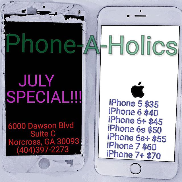 Cell phone repair service! #cellphonerepair #phonerepair #apple #samsung #lg #motorola #zte #jimmycarter #norcross #norcrossga #atl #atlanta #phoneaholics #samedayservice