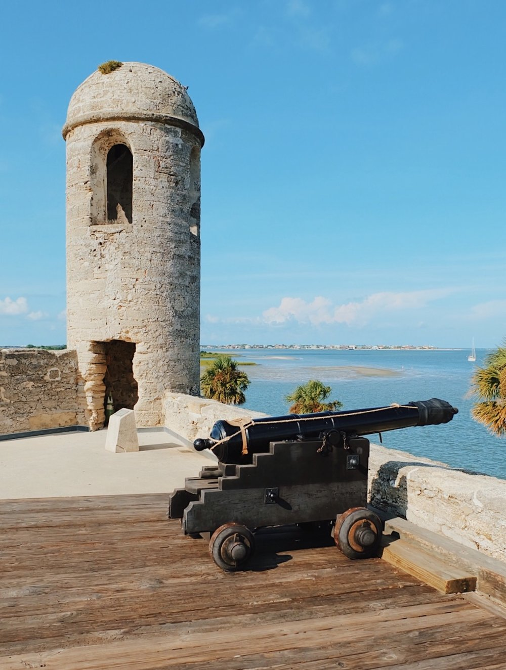 Castillo de San Marcos- Watch Tower - Fuji X-A2 - Color Grade VSCO by Bryan Garces