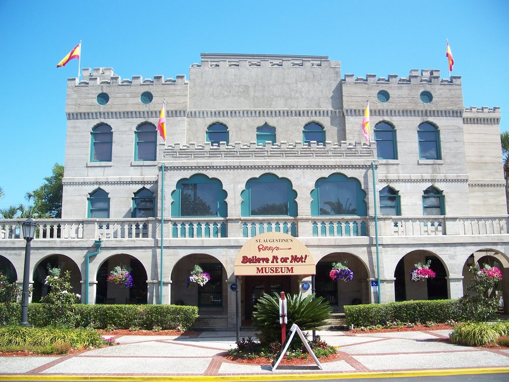 Ripley's Odditorium in beautiful  St .  Augustine  Florida is proud to be the very first permanent  Ripley's attraction! Set in a beautiful historic castle. Photo by Wiki Pictures