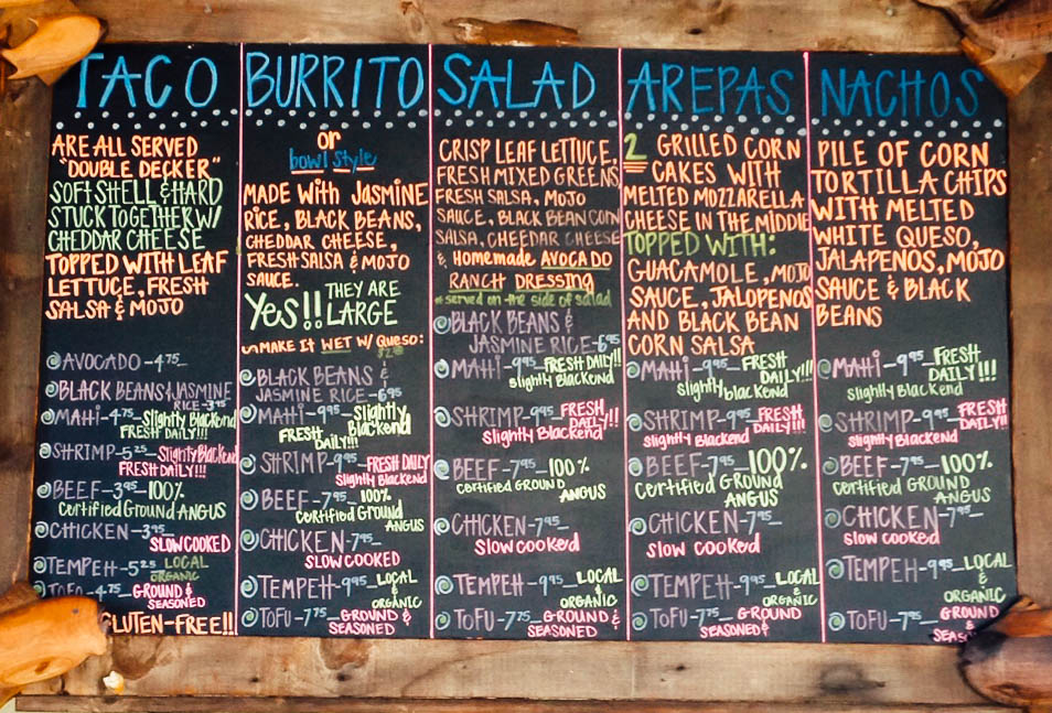 Mojos Tacos menu, it never changes.              Photo by Mojos Tacos
