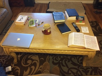 Coffee Table Bookshelf Before