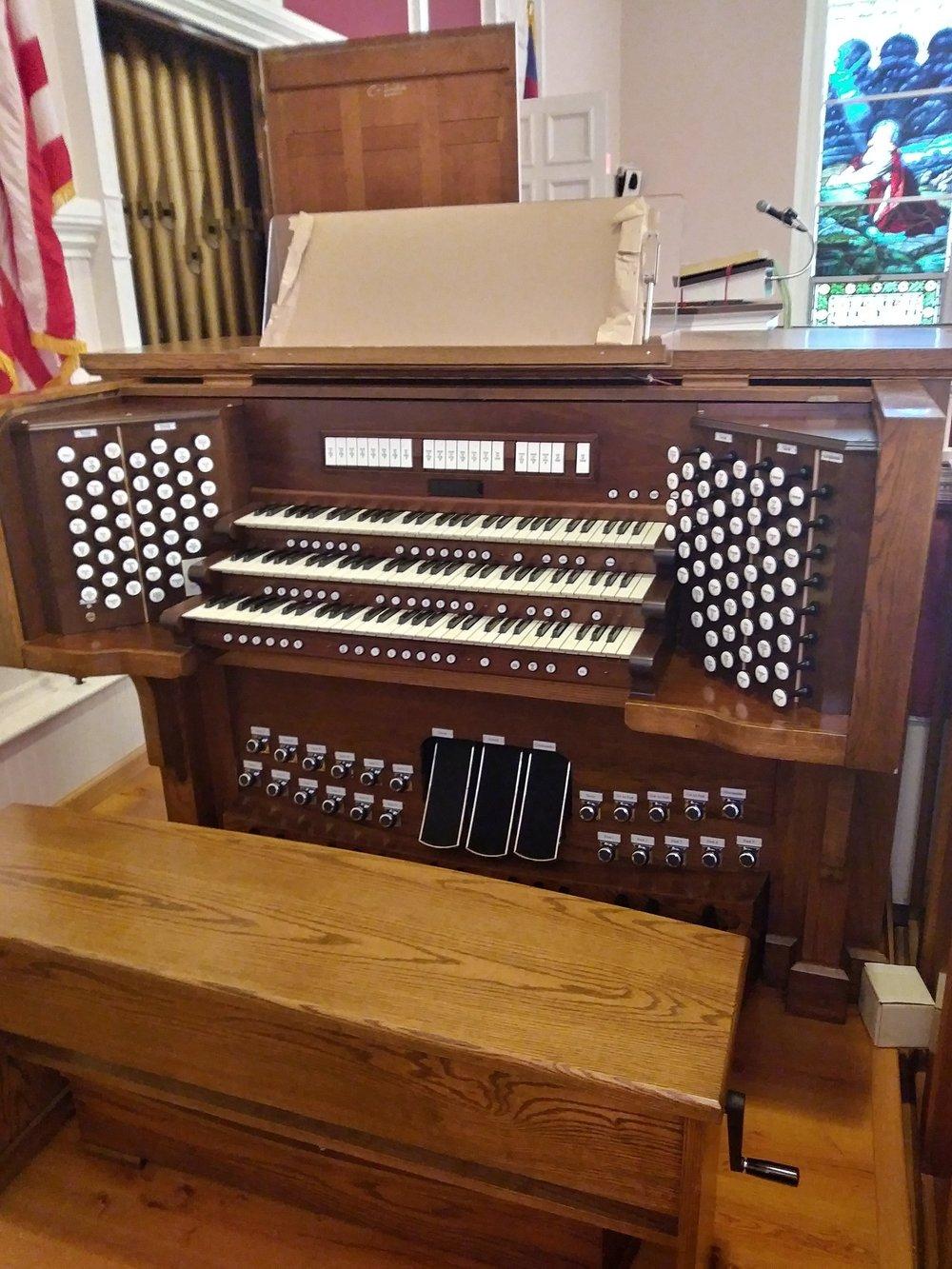 New Organ Console