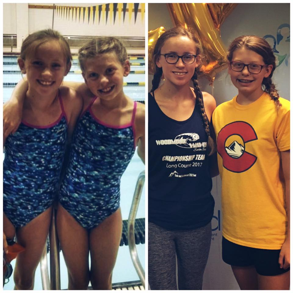 Sophia and I at our first camp 4 years ago and Sophia and I at LEAD in 2017