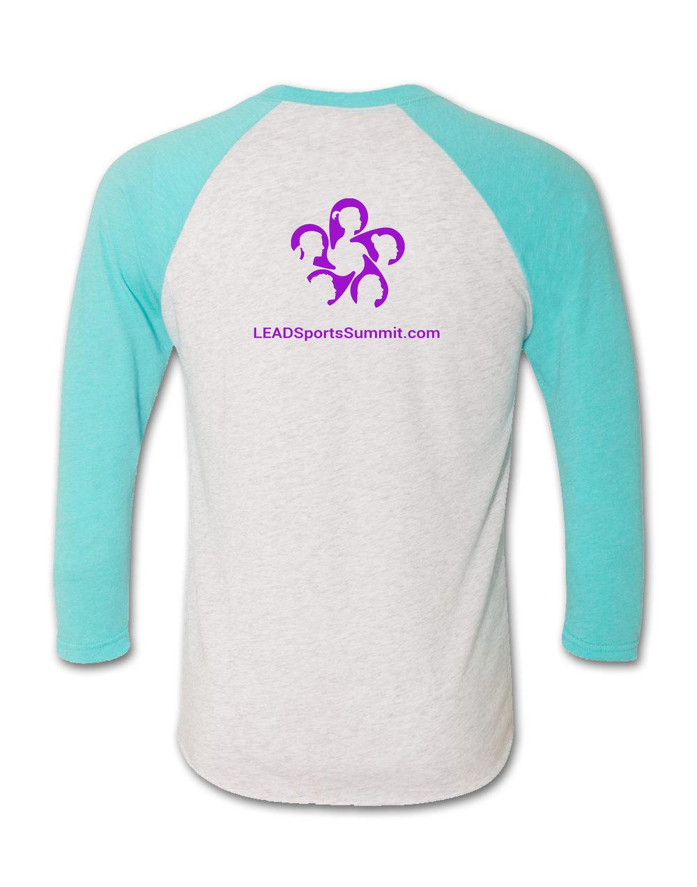 Lead Baseball T Shirt Teal Purple Lead Sports Summit