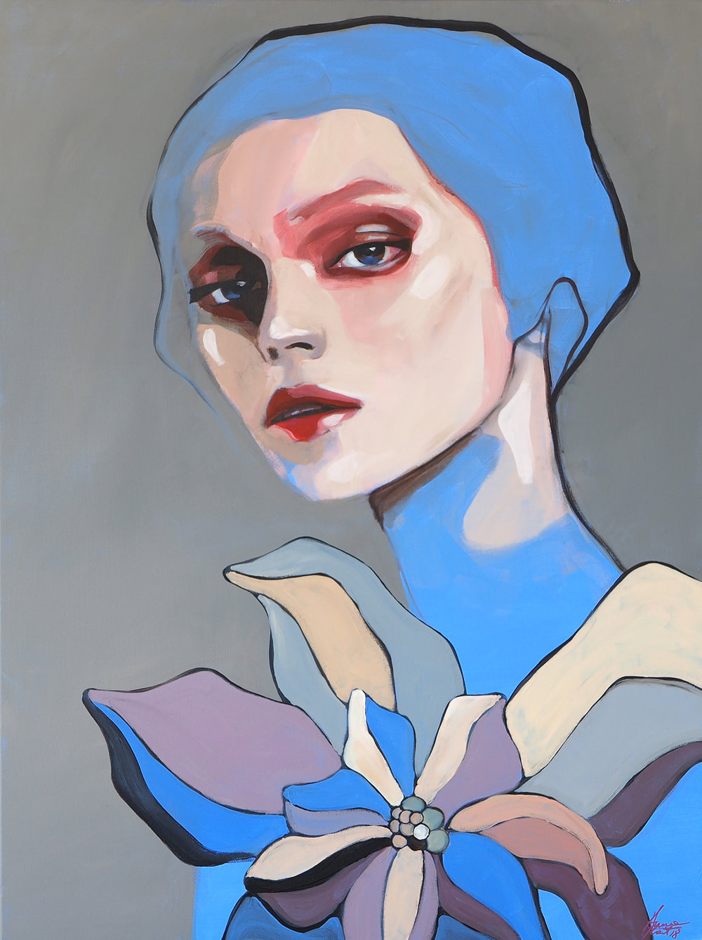 """Blue girl"" for more details please  click here"