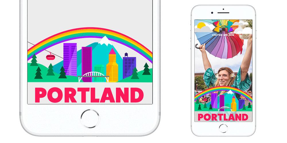 New Work // Snapchat Pride Filter -