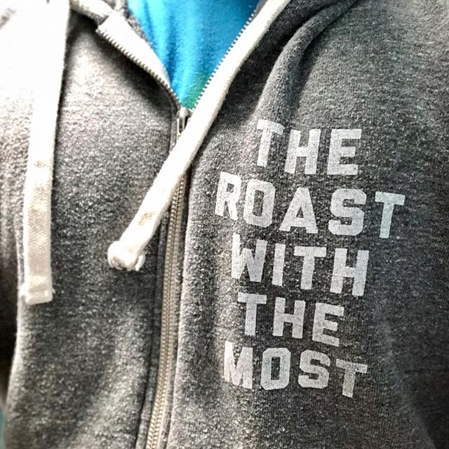 When your shirt says it all ☕️👌 #roastwiththemost #tcroastingco #organiccoffee #downtowntc #organicroaster #coffeeroaster #coffee #roast #traversecity #michigan #familybusiness