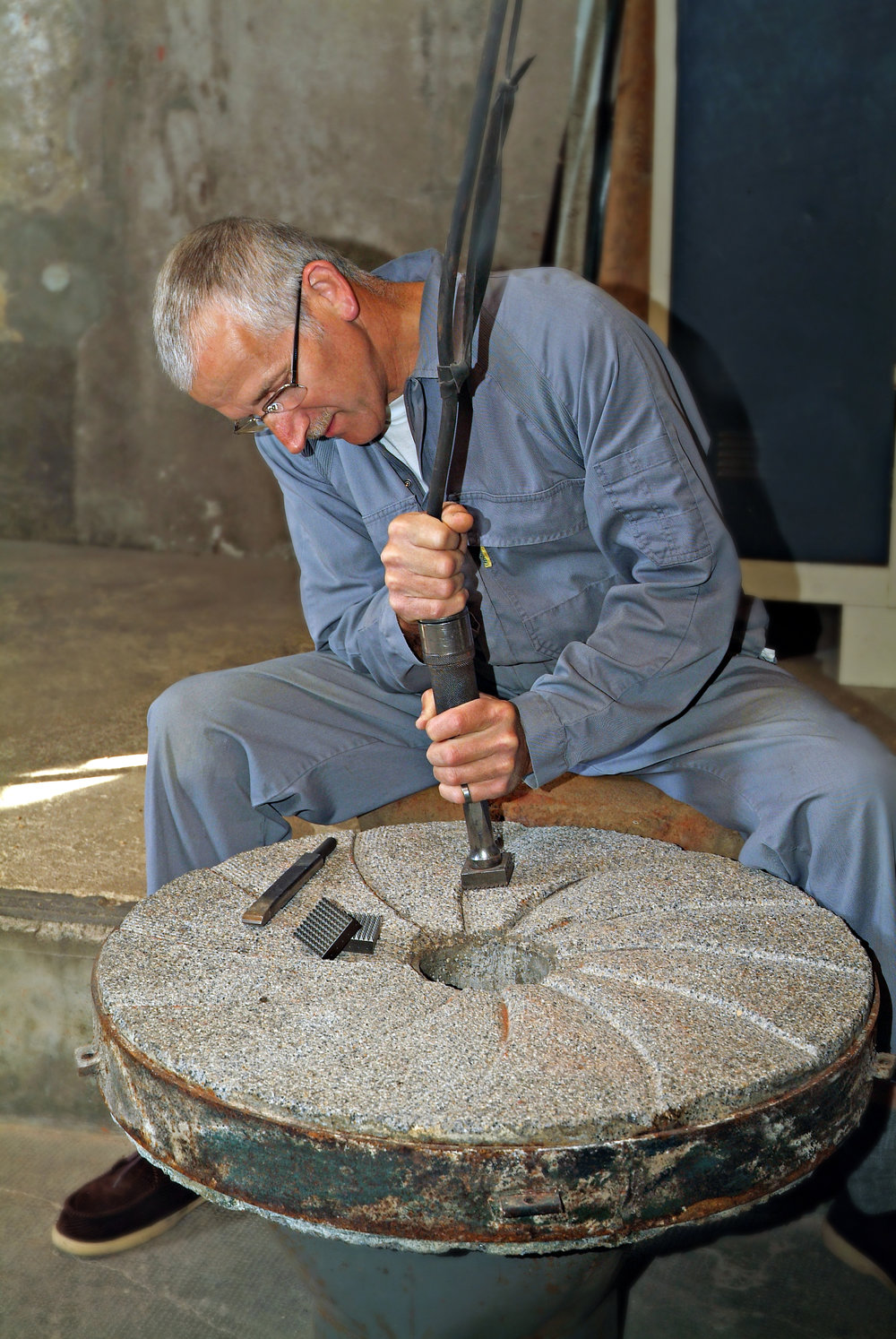 Essential mill stone maintenance...
